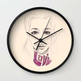 Lover not a Fighter Wall Clock