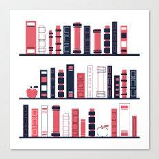 Shelves of Books Stylized Canvas Print
