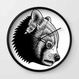 Red panda - ink illustration Wall Clock