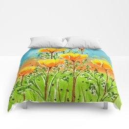 California Poppies Comforters