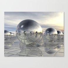 Reflecting 3D Spheres Canvas Print