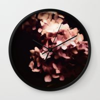 hydrangea Wall Clocks featuring Hydrangea by Christine Belanger