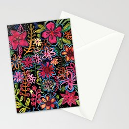 Meadow on black Stationery Cards