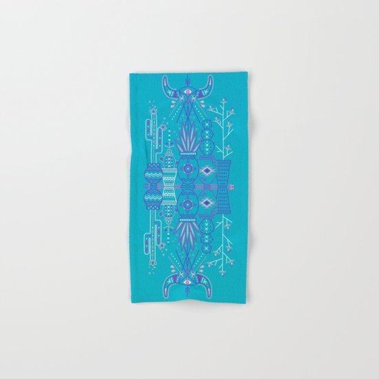 Santa Fe Garden – Blue & Purple Hand & Bath Towel