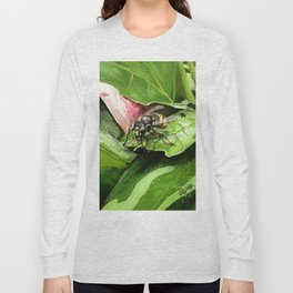 Wasp on flower16 Long Sleeve T-shirt