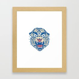 Third Eye Tiger Flash Framed Art Print