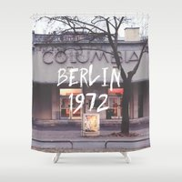 cinema Shower Curtains featuring Cinema Columbia by MissBruce Lee