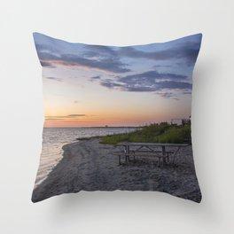 Sunset Picnic Spot Throw Pillow