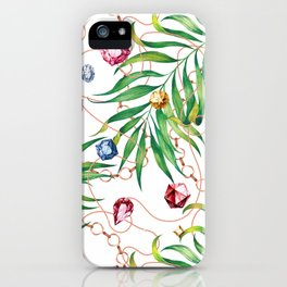 Glamorous Palm white iPhone Case