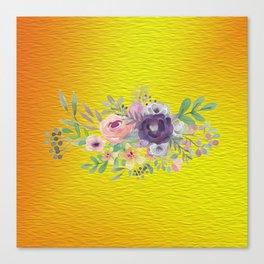 Flowers Gradient Canvas Print