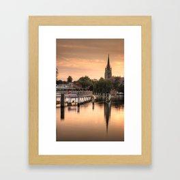 Evening over Marlow Framed Art Print
