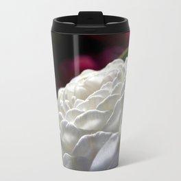 White camelia Travel Mug