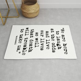 Charles Bukowski Quote Laugh Rug