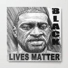 George Floyd - Black Lives Matter Metal Print