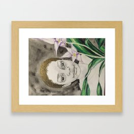 behind the asian orchids Framed Art Print
