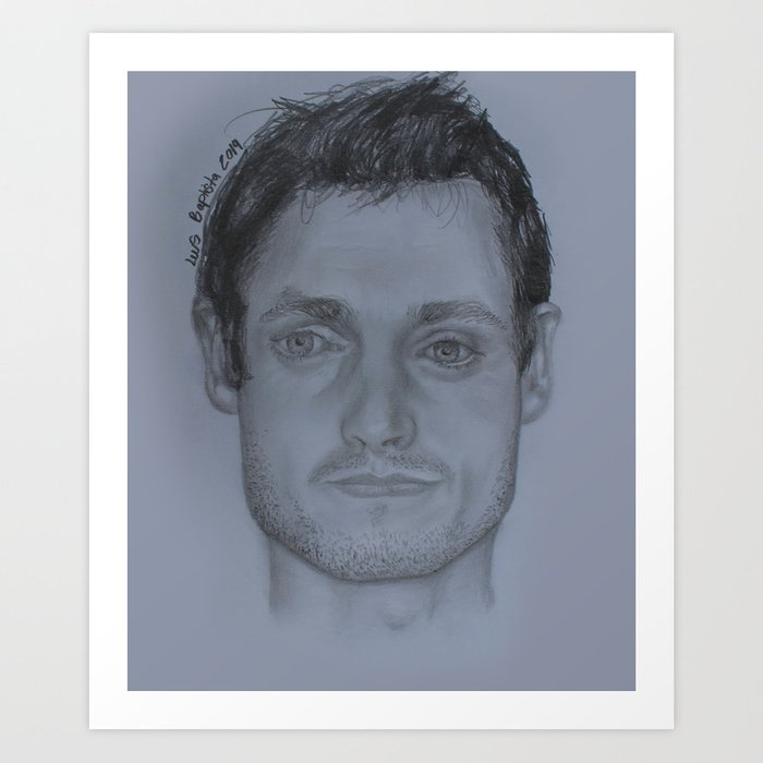 Hugh dancy pencil drawing art print