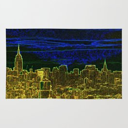 New York Neon Lights Rug