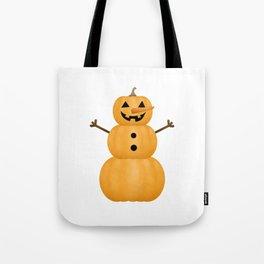 Pumpkin Snowman Tote Bag