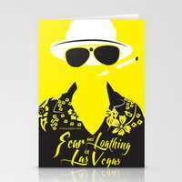 fear and loathing Stationery Cards featuring Fear and Loathing in Las Vegas by Jordi Hayman Design