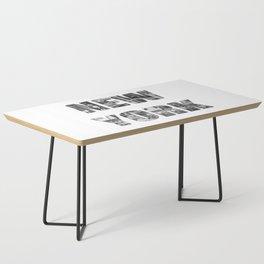 New York  B&W typography Coffee Table