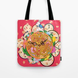 Running with time Tote Bag