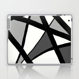 Geometric Line Abstract - Black Gray White Laptop & iPad Skin
