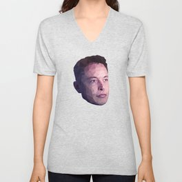 Low Poly Hero: Elon Musk Unisex V-Neck
