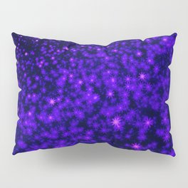 Christmas Blue Purple Night Snowflakes Pillow Sham