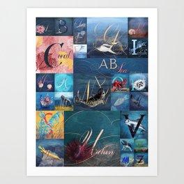 A, B, Seas Art Print