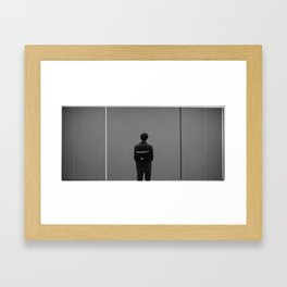 art viewer Framed Art Print
