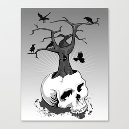 Skull and Tree Canvas Print
