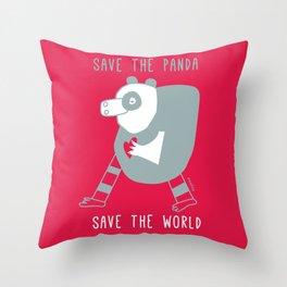 cuore di panda Throw Pillow