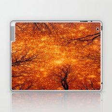 Black Trees Amber Space Laptop & iPad Skin