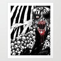 Lucha Libre Pentagon Jr. Skulls Art Print