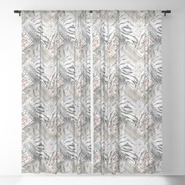 Ethnic fantasy. 1 Sheer Curtain
