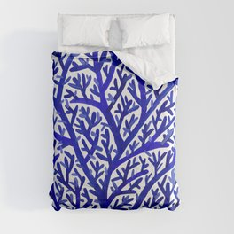 Fan Coral – Navy Comforters