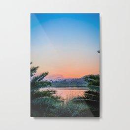 Palm Tree Sunset Print Metal Print