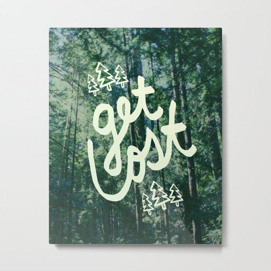Get Lost x Muir Woods Metal Print