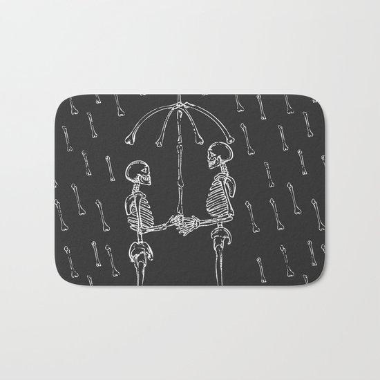 Raining Bone Bath Mat