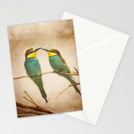 Love time. Bee-eaters Stationery Cards