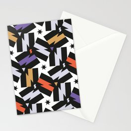 Energy - Morrocan Tiles Memphis pattern minimal geometric star zigzag bolts Stationery Cards