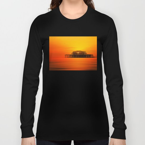 Brighton West Pier at Sunset Long Sleeve T-shirt