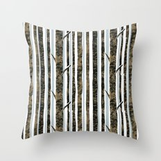 Woodland Stripe Throw Pillow