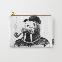 Walrus with a Pipe Carry-All Pouch