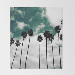 Palms in the sky Throw Blanket