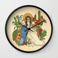 mexico Wall Clocks featuring Mexico by Anne Kelley