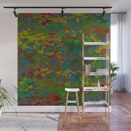 Camouflage Dots Wall Mural