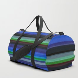 Colored Lines - Blue Duffle Bag
