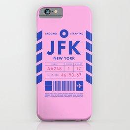 Baggage Tag D - JFK New York John F. Kennedy USA iPhone Case