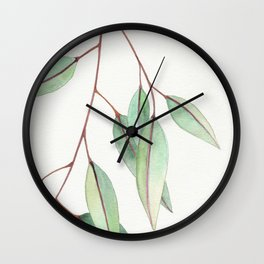 Eucalyptus Leaves One Wall Clock
